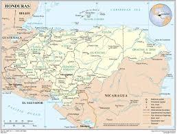 Map Of Punta Gorda Florida by Honduras Physical Map