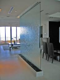 Interior Waterfall Design by Frameless Glass With Waterfall As A Room Divider Architecture