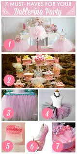 7 things you must have at your ballerina birthday party catch my