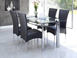 Glass Dining Room Table Set Dining Tables Round Glass Dining Table For 6 Rectangular Glass