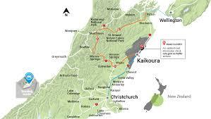 Map New Zealand Kaikoura New Zealand Whale Dolphin Watching Accommodation
