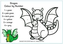dragon colouring pages