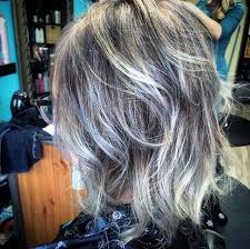 black low lights for grey my new grey hair and lovin it used a ash toner to get this look and