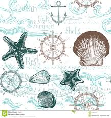 seamless wallpaper pattern with sea animals stock vector image