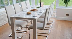 Contemporary White Dining Room Sets - 10 chair dining table seats for a large gathering u2014 home decor chairs
