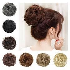 bun scrunchie barsdar wavy curly bun updo hairpiece scrunchy