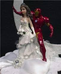 iron cake topper iron groom wedding cake topper top comic