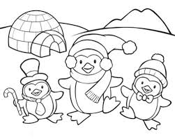 cute winter coloring pages coloring pages penguins 17248