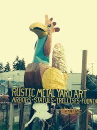 rustic metal yard art covington get going