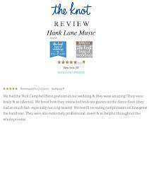 wedding band reviews nick cbell band archives hank and productions inc