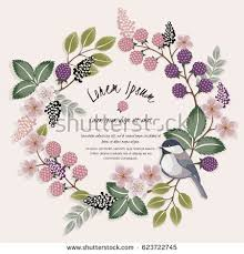 Flower Design For Scrapbook Vector Illustration Beautiful Floral Wreath Cute Stock Vector