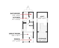 Mobile Tiny House Plans Small Floor Home Free