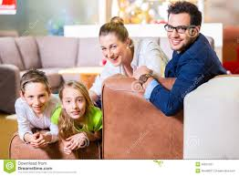 Buying A Couch Family Buying Couch In Furniture Store Stock Photo Image 43207227