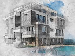 architecture sketch photoshop effect tutorial youtube