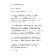 resignation letter sle resignation letter for a