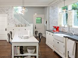 enchanting kitchen island ideas with white table and windows