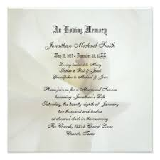 funeral service announcement wording remembrance invitations announcements zazzle
