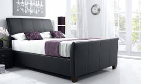 rebecca ottoman bed black leather all beds fishpools