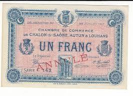 chambre du commerce chalon sur saone 1 franc 25 juil 1917 chambre de commerce chalon s saône annule neuf