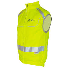 mens reflective cycling jacket j2x fitness full zip high visibility reflective cycling gilet vest