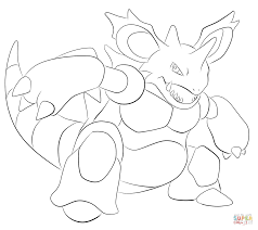 nidoking coloring page free printable coloring pages