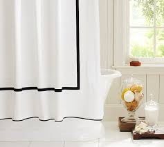 Luxury Shower Curtain White Cotton Refreshing Shower Curtain Designs For The Modern Bath