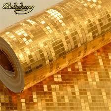 Excepcional Entrega grátis Beibehang ouro mosaico papel de parede de ouro  &CR19