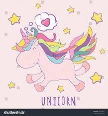 love unicorn cute vector cartoon happy stock vector 407483833