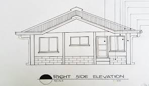 drawing a house architectural drawing house design bungalow type with garage in front