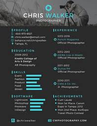 photographer resume template black and blue photographer resume templates by canva