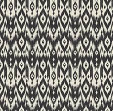 modern home decor fabric ikat pattern fabric black cream tribal ikat by bohemiangypsyjane