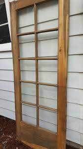 vintage room divider vintage wood door 10 pane beveled glass room divider old wood