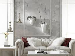 White Animal Heads Wall Decor for Home