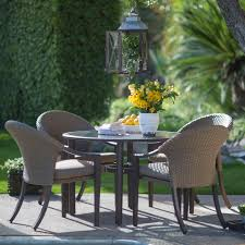 All Weather Wicker Patio Chairs Furniture Costway Pcs Outdoor Patio Dining Set Metal Rattan