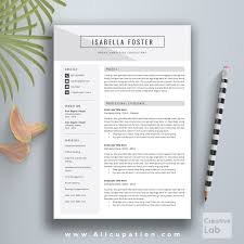 Download Resume Templates For Mac Creative Resume Template Cv Template Cover Letter 1 2 3 Page