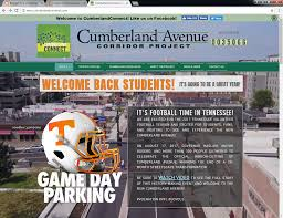 University Of Tennessee Parking Map by The Cumberland Connection