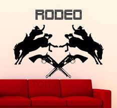 home interior horse pictures rodeo wall sticker cowboy poster horse vinyl decal home interior