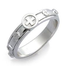 catholic rosary ring rosary ring ebay