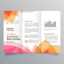Warm Colors Modern Brochure With Warm Colors Vector Free Download