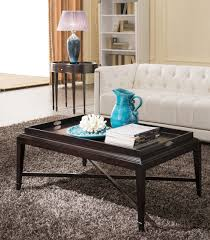 coffee table storage ottoman coffee table with wood trays for