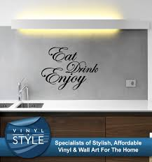 wall decals stickers home decor home furniture diy eat drink enjoy kitchen quote decor decal sticker wall art various colours