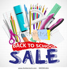 back school background blackboard school supplies stock vector