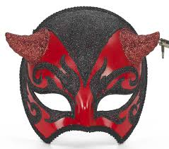 amazon com forum devil venetian mask red black one size clothing
