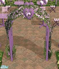 wedding arches sims 3 heartspirit s purple wedding arch