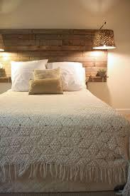 rustic bedroom interior pallet headboard ideas basket lamp crochet