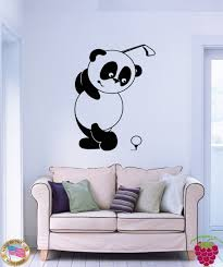 compare prices on panda decals online shopping buy low price wall stickers vinyl decal cartoon animal panda golf sport china mainland