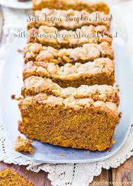 Pumpkin Bars With Crumb Topping Soft Vegan Pumpkin Bread With Brown Sugar Streusel Crust Averie