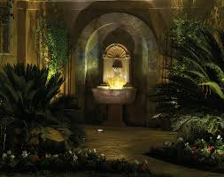 outdoor water features with lights 6 principles of lighting water features