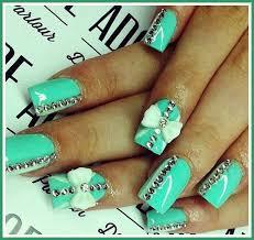 fingernail bows acrylic nail designs for homecoming acrylic