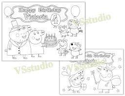 peppa pig birthday party favor peppa pig coloring